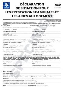 Declaration De Changement Caf Pour  Mois