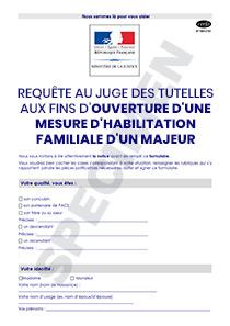 Cerfa 15613 01 Requete Aupres Du Juge Des Tutelles Pour L