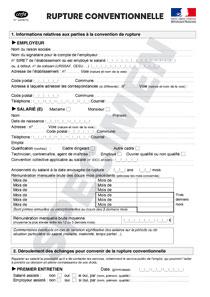 Cerfa 14598 01 Rupture Conventionnelle D Un Cdi