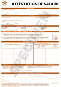 Formulaire d'attestation de salaire (cerfa 11135-04)