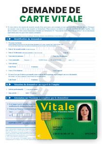 formulaire pour carte vitale Formulaire de demande de Carte Vitale