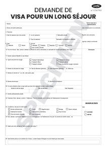 43a5b053c2c CERFA 14571-05   Formulaire de Visa long séjour
