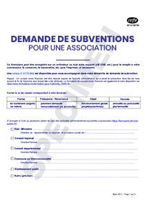 Formulaire De Demande De Subventions Cerfa 12156 05