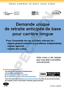 Demande De Retraite Anticipee Carriere Longue Cerfa 51687 01