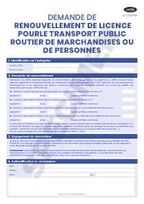 cerfa 13437 02 demande de renouvellement de licence pour le transport public routier. Black Bedroom Furniture Sets. Home Design Ideas