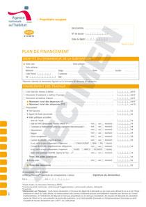 Cerfa 13460 03 Plan De Financement Proprietaire Occupant Anah