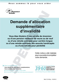 Cerfa 13679 02 Demande D Allocation Supplementaire D Invalidite