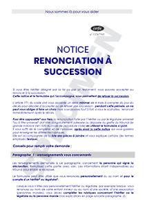 cerfa 51411 02 notice de renonciation succession. Black Bedroom Furniture Sets. Home Design Ideas