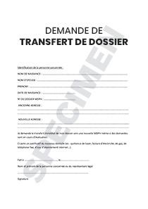 Demande De Transfert De Dossier Mdph