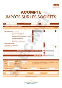 Cerfa 12403 13 Releve D Acompte 2571 Sd Impot Sur Les Societes