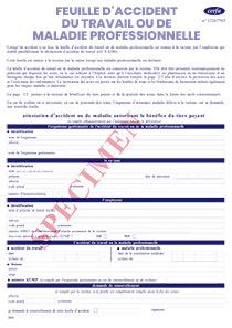 Cerfa 11383 02 Feuille D Accident Du Travail Ou De Maladie