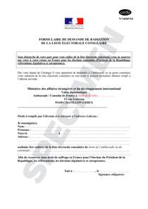 Cerfa 14040 04 Demande Radiation De La Liste Electorale Consulaire