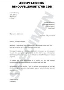 Acceptation Du Renouvellement D Un Cdd