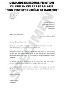 Demande De Requalification Du Cdd En Cdi Par Le Salarie Non Respect