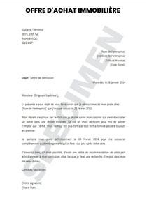 Offre D Achat Immobilière Modèle