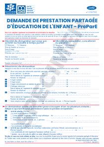 Cerfa 12324 05 Demande De Prestation Partagee D Education De L