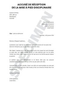 Accuse De Reception De La Mise A Pied Disciplinaire Admission De La